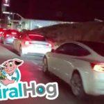 VIDEO: Kolony elektromobilů v USA čekajících na nabití