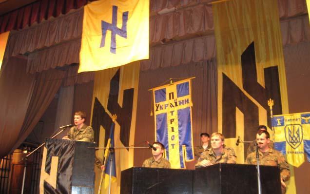 """Sjezd neonacistického hnutí """"Patriot Ukrajiny"""", později Azovský prapor; Foto: MK / Wikimedia Commons"""