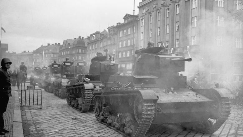 Polské tanky v Českém Těšín; Foto: Wikimedia Commons