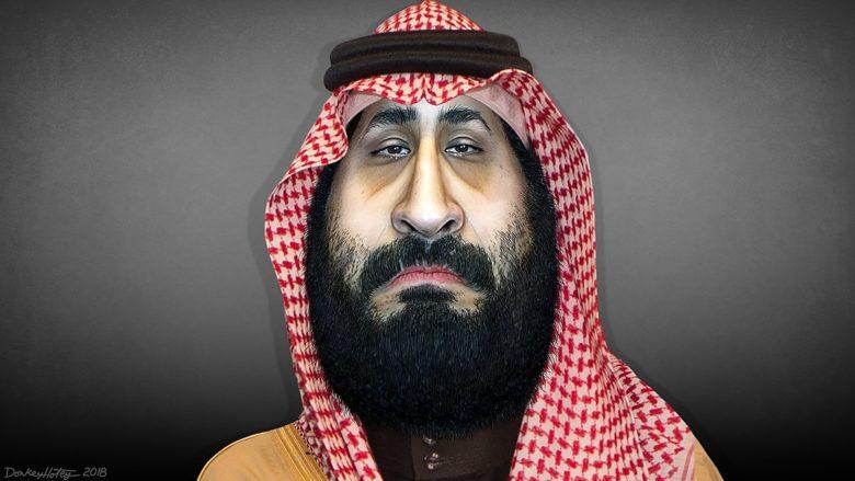 Saúdský korunní princ Muhammad Bin Salmán; Karikatura: DonkeyHotey / Wikimedia Commons