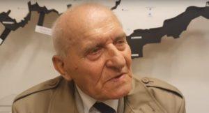 Emil Šneberg, pamětník Pražského povstání; Foto: Repro YouTube Raptor TV Live