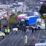 SLOVENSKO: Stávkující autodopravci zablokovali veřejnou dopravu
