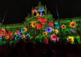 Videomapping na Nový rok v Praze; Foto: Profil Zdeňka Hřiba na sociální síti
