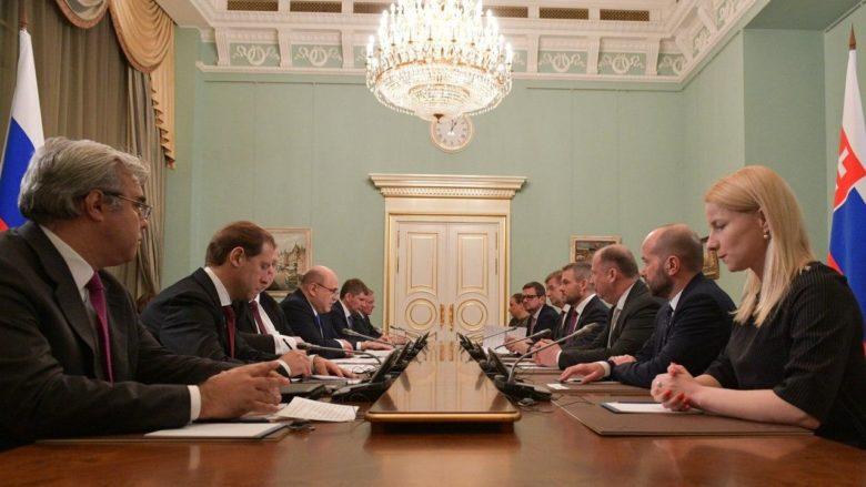 Setkání vládních delegací Ruska a Slovenska v Moskvě; Foto: Účet ruské vlády na sociální síti