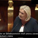 VIDEO: Projev Marine Le Pen k tématu neřízené imigrace [české titulky]