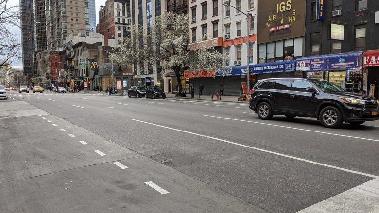 Vyprázdněné ulice New Yorku; Foto: Janine a Jim Edenovi / Wikimedia Commons