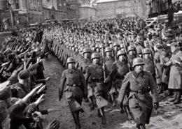 Německé okupační jednotky vstupují do Prahy v březnu 1939; Foto: Wikimedia Commons