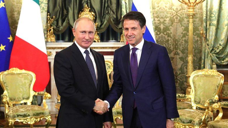 Ruský prezident Vladimir Putin a italský premiér Giuseppe Conte; Foto: Tisková služba ruského prezidenta / Wikimedia Commons