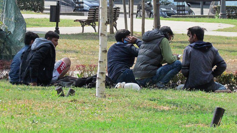 Afghánští uprchlíci v Bělehradě; Foto: Gmihail / Wikimedia Commons