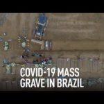 VIDEO: Hromadné hroby pro oběti koronaviru v Brazílii