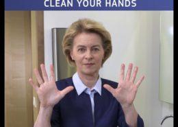 VIDEO: Předsedkyně EK bojuje proti COVID-19 návodem na mytí rukou