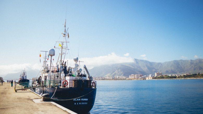 Jedna ze zabavených lodí Alan Kurdi organizace Sea Eye; Foto: Sea-Eye.org