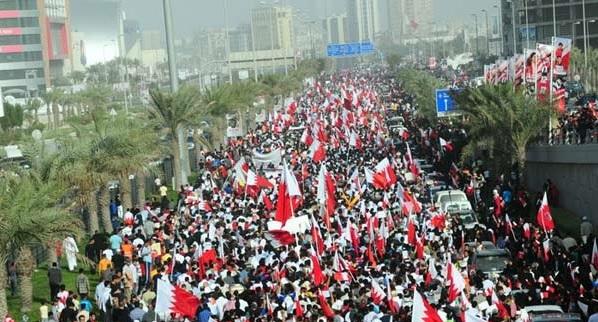 Protesty v Bahrajnu; Foto: Al-aradi / Wikimedia Commons