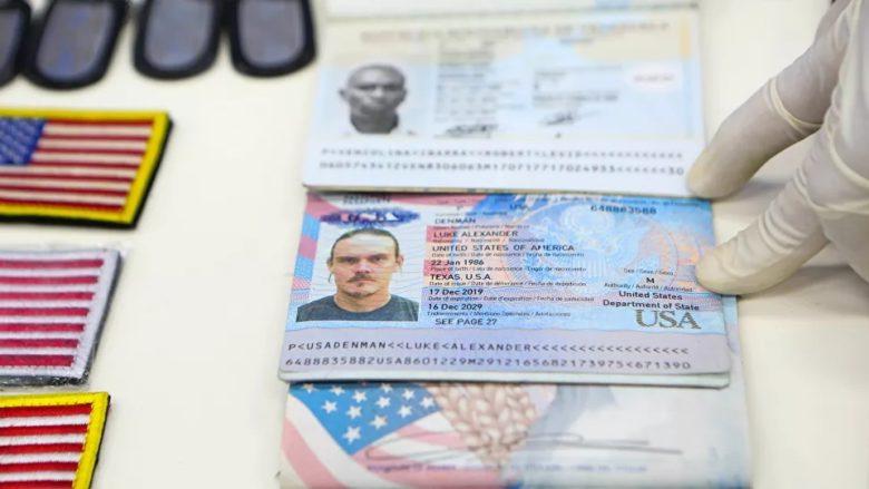Pas zadrženého amerického žoldáka; Foto: Venezuelský prezidentský palác