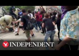 VIDEO: Demonstranti kvůli smrti George Floyda se setkávají opět s policejním násilím