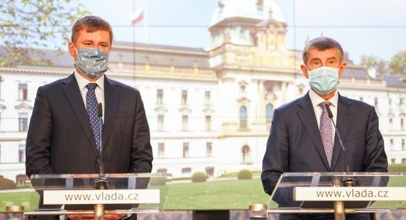 Tisková konference po zasedání české vlády; Foto: vlada.cz