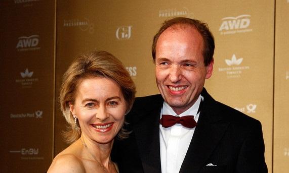 Ursula von der Leyen se svým manželem Heiko von der Leyenem; Foto: zimbio.com