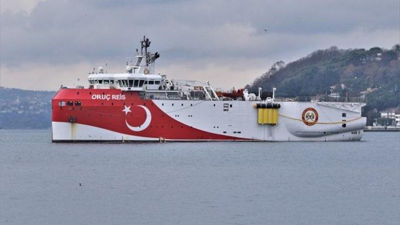 Turecká výzkumná loď Oruç Reis; Foto: Cengiz Tokgoz / MarrineTraffic.com
