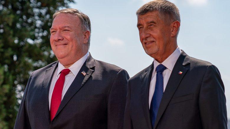 Mike Pompeo a Andrej Babiš; Foto: Ministerstvo zahraničí USA / Wikimedia Commons