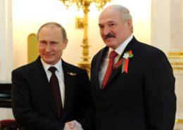 Vladimir Putin a Alexander Lukašenko; Foto: Tisková služba prezidenta Ruska / Wikimedia Commons