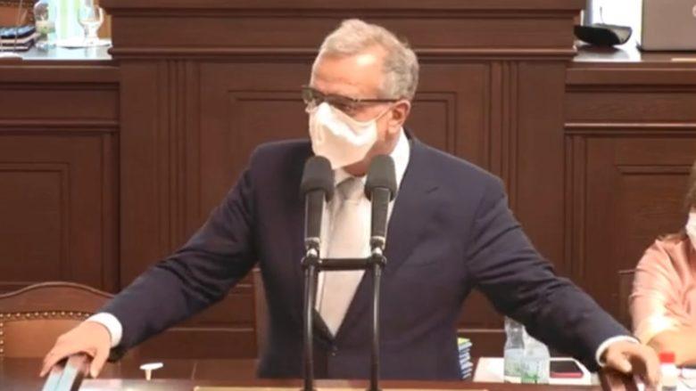 Miroslav Kalousek (TOP09) ve Sněmovně; Foto: Repro video