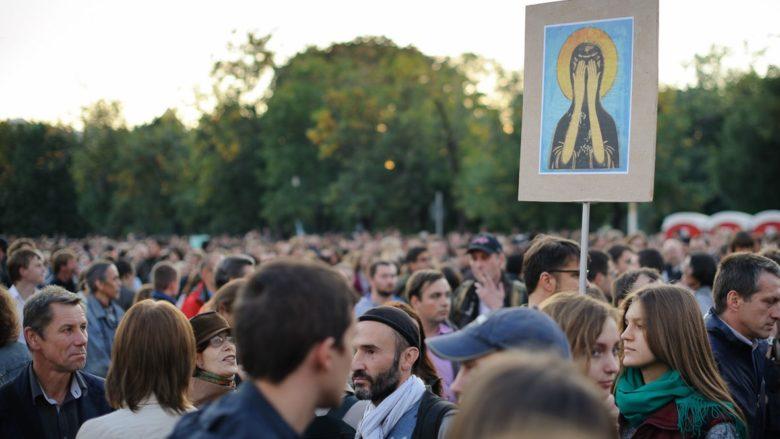 Protesty na podporu A. Navalného; Foto: Evgeniy Isaev / Wikimedia Commons