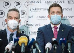 Ivan Bartoš (Piráti) a Vít Rakušan (Starostové a nezávislí); Foto: Profil Pirátské strany na sociální síti