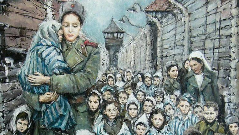 Obraz Madona z Osvětimi; Foto: Profil Stanislava Sedláčka na sociální síti