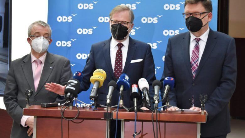 Marek Benda, Petr Fiala a Zbyněk Stanjura (ODS); Foto: Profil P. Fialy na sociální síti