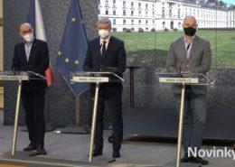 Tisková konference po zasedání vlády; Foto: repro Novinky.cz