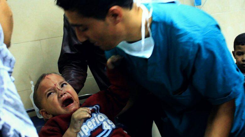 Oběťmi izraelského bombardování byly i děti; Foto: Gigi Ibrahim / Wikimedia Commons
