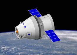 Vizualizace ruské kosmické lodi Orel; Foto: Kamov / Wikimedia Commons