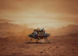 VIDEO: Na Marsu přistál čínský modul s vozítkem