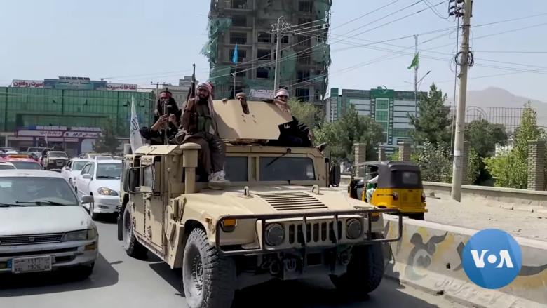 Bojovníci hnutí Tálibán; Foto: Voice of America News / Wikimedia Commons